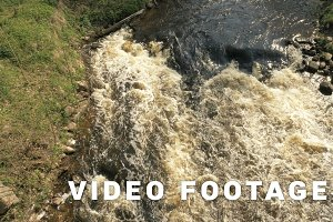 Mountain river - slowmotion shot 60 fps