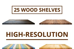25 ISOLATED SHELVES