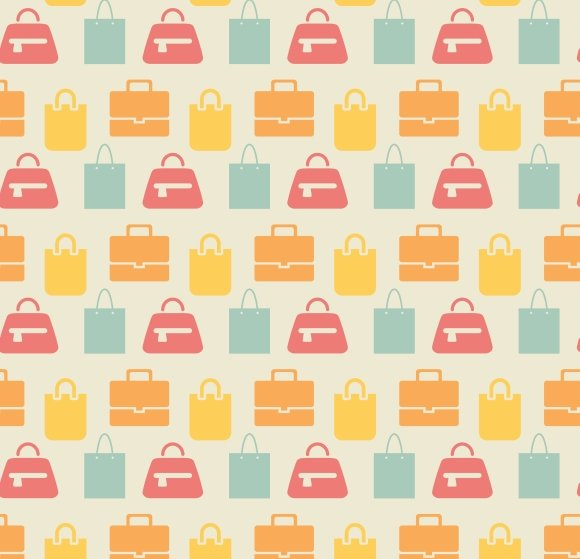 shopping bags pattern graphic patterns creative market