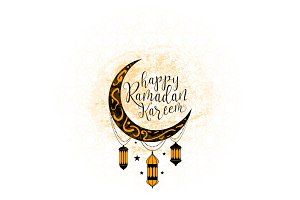 Vector illustration for an Islamic holy holiday of Ramadan