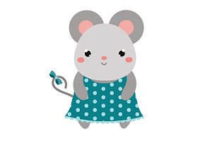 Cute mouse character