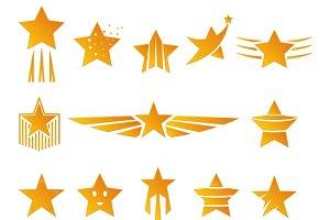 Gold Stars for Logos
