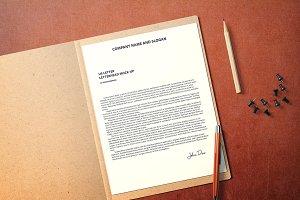 US Letter Letterhead Mockup