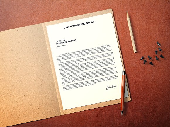 us letter letterhead mockup product mockups creative market