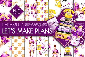 Let's Make Plans PNG Patterns