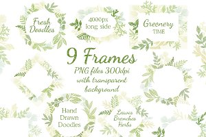 Leaves Branches & Herbs frames.