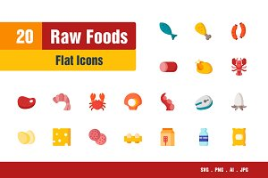 Raw Foods Icons
