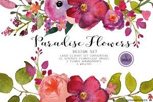 Floral watercolor clip art