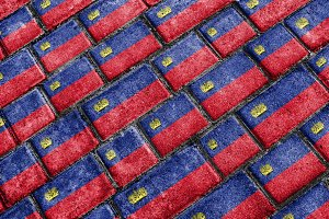 Liechtenstein Flag Urban Grunge Pattern