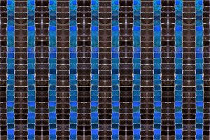 Dark Mosaic Striped Seamless Pattern