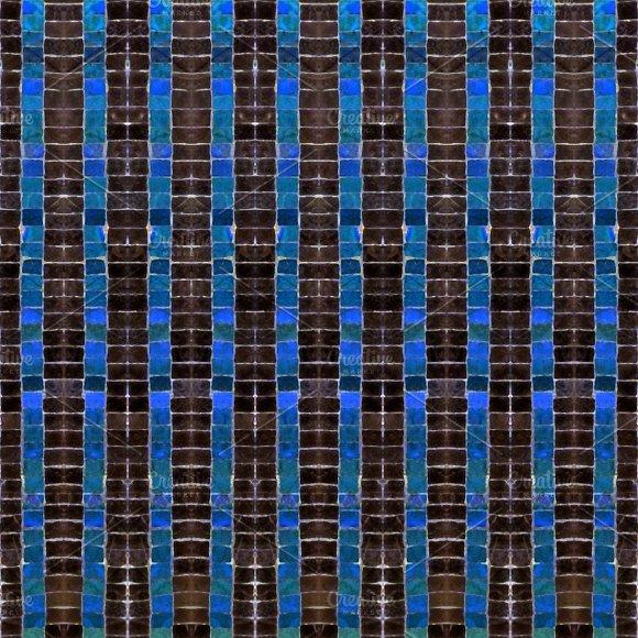 Dark Mosaic Striped Seamless Pattern