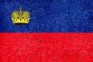 Liechtenstein Grunge Flag