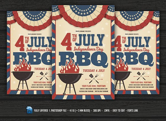 4th of July BBQ Flyer