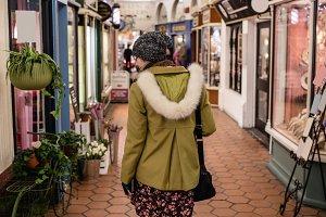 Woman walking the market