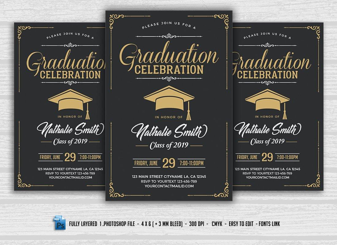 Graduation Party Invitation ~ Invitation Templates ~ Creative Market