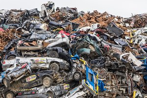 Scrap metal  - Industry area