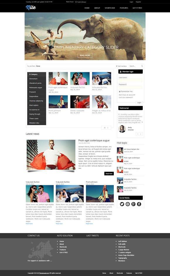 Nile - Free WordPress Magazine Theme