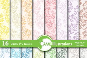Ivy pattern Digital Papers, AMB-592