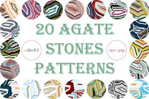 20 agate stones patterns