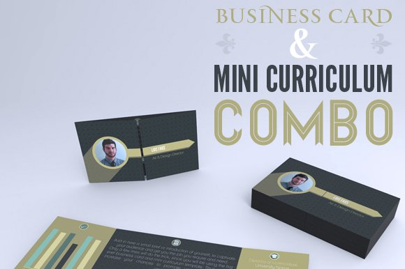 Foldable Business Card Mini CV