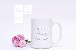 15oz Ceramic Mug Spring Mockup PSD
