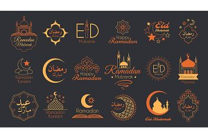 Islamic Emblems Set