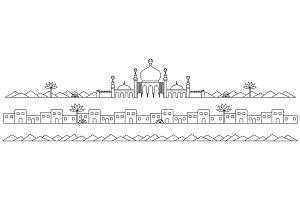 Line art Mosques Landscape