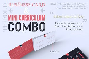 Trifold Business Card & CV Combo