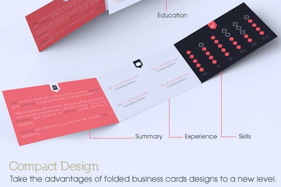 Trifold Business Card CV Combo Templates Creative Market