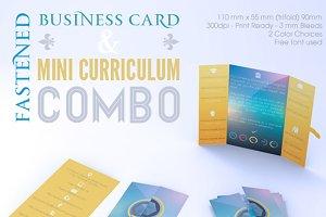 Fastened Buss Card + Mini CV Combo