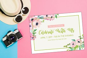 Elegant Flower Celebration Invite