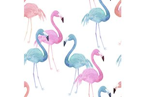 Colorful Seamless Flamingo Pattern