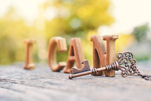 "alphabet wood ""I can"" word"