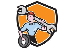 Mechanic Spanner Wrench Tire Shield