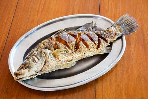 Deep fried snapper