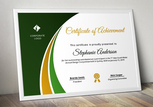 Modern Certificate Template (pptx) in Stationery Templates - product preview 1