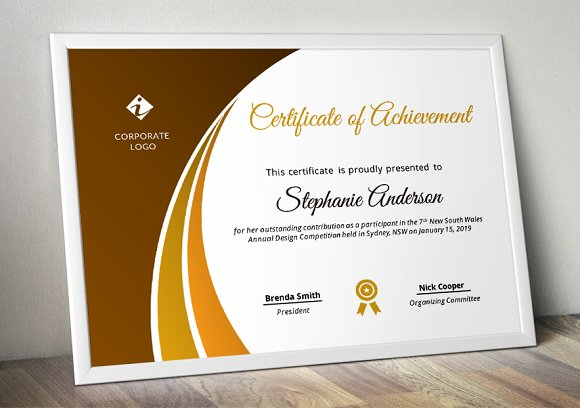 Modern Certificate Template (pptx) in Stationery Templates - product preview 3
