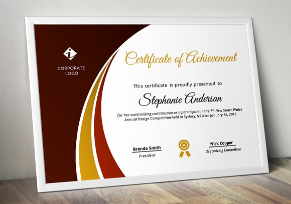 Modern Certificate Template (pptx) in Stationery Templates - product preview 4