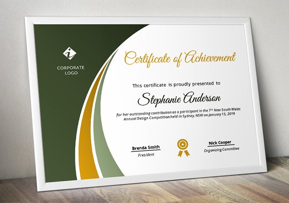 Modern Certificate Template (pptx) in Stationery Templates - product preview 5