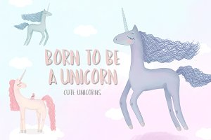 Born to be a unicorn. Illustrations