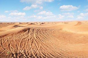 sand in the desert.
