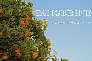 Tangerine, Outlined Font