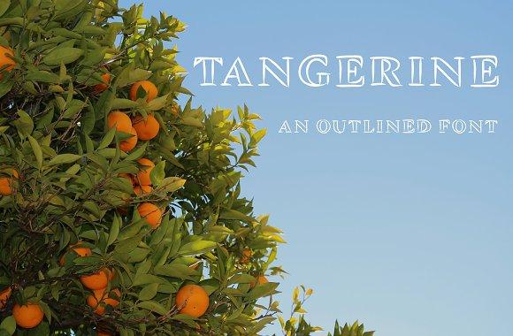 Tangerine Outlined Font