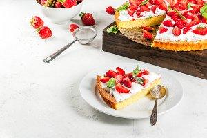Homemade strawberry pie
