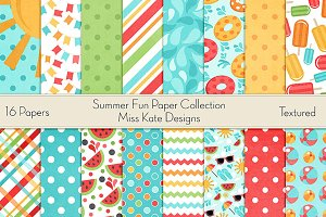 Summer Fun Digital Paper Collections