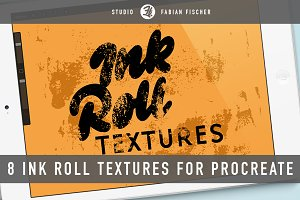 Ink roll textures for procreate app