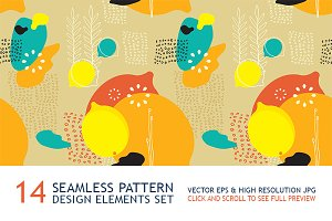 14 seamless pattern & design element