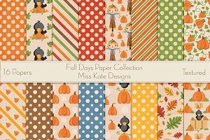 Fall Days Digital Paper Collection