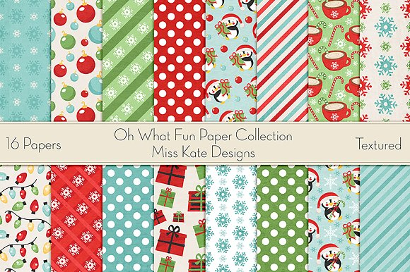 Oh What Fun Paper Collection