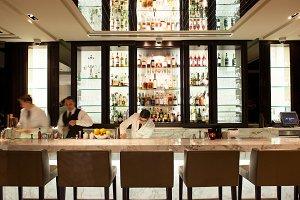 Restaurant Bar with Bartender